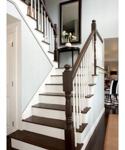 Бетонные лестницы с деревянной отделкой